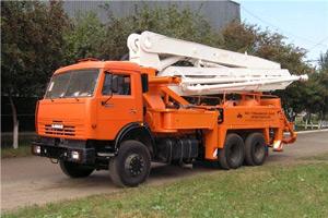 Бетононасос КАМАЗ АБН 75/21 - 21 м