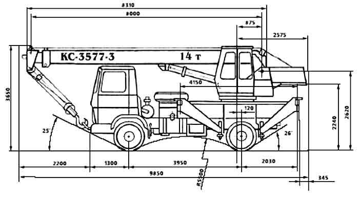 Характеристики автокрана «Угличмаш» 14 тонн