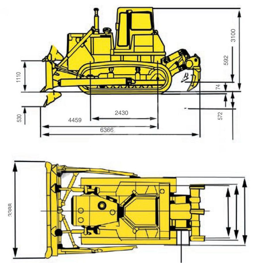 Технические характеристики бульдозера Shantui SD16