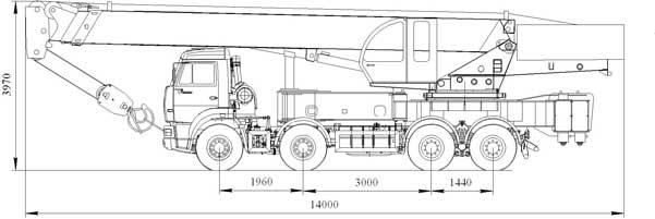 Характеристики автокрана «Ульяновец» 40 тонн