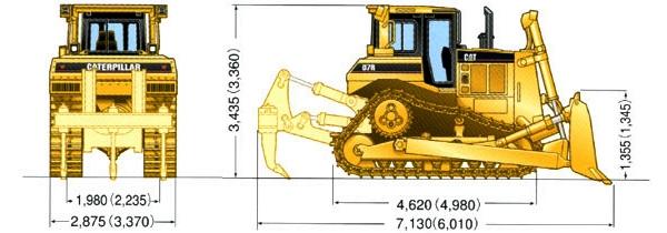 Технические характеристики бульдозера Caterpillar D6