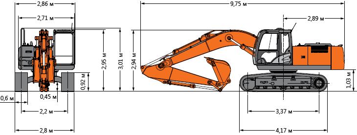 Технические характеристики гусеничного экскаватора Hitachi ZX330LC