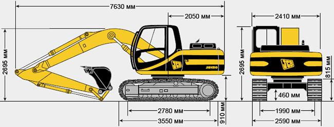 Технические характеристики гусеничного экскаватора JCB JS 130
