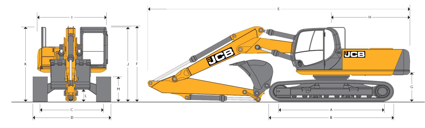 Технические характеристики гусеничного экскаватора JCB JS 260
