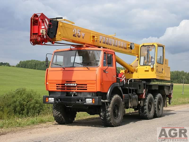Автокран «Галичанин» 25 тонн (вездеход) в Москве и Московской области