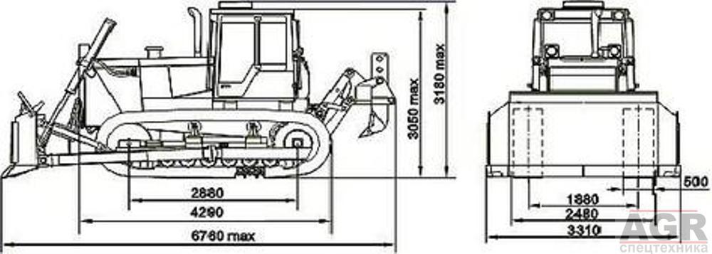 Характеристики бульдозера Т-170